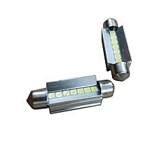 billige Interiørlamper til bil-2pcs 41mm Bil Elpærer 7W 700lm 7 LED interiør Lights For Audi / Honda / Hyundai ML400 / GLE320 / GLA220 2018 / 2017 / 2016
