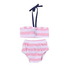 billige Babytøj-Baby / Spædbarn Pige Strand Stribet Polyester / Spandex Badetøj Hvid 90