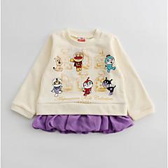 billige Babyoverdele-Baby Pige Trykt mønster Farveblok Langærmet T-shirt