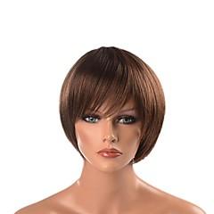 billiga Peruker och hårförlängning-cosplay Suits / Syntetiska peruker / Kostymperuker Rak Frisyr i lager Syntetiskt hår Värmetåligt / syntetisk / designers Mörkbrun Peruk