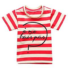 Χαμηλού Κόστους Μπλουζάκια για αγόρια-Παιδιά / Νήπιο Αγορίστικα Ενεργό Ριγέ Στάμπα Κοντομάνικο Βαμβάκι Κοντομάνικο