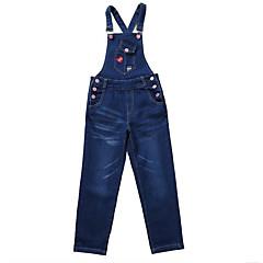 billige Bukser og leggings til piger-Børn Pige Aktiv / Basale Trykt mønster Trykt mønster Bomuld Overall og jumpsuit