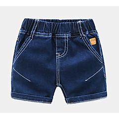 baratos Roupas de Meninos-Infantil Para Meninos Sólido Shorts