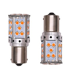 billige Kjørelys-2pcs 1156 Bil / Motorsykkel Elpærer 35W SMD 3030 2800lm 35 LED Blinklys / Dagkjøringslys For General motors General motors Alle år