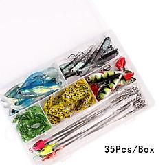 baratos Ferramentas de pesca-Conjuntos de Isco / Acessórios de pesca / Ferramentas de pesca Ajustável / Instalação Fácil / Fácil de transportar Plástico / Aço de