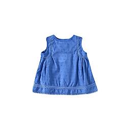 billige Babyoverdele-Baby Pige Aktiv Ensfarvet Uden ærmer Undertrøje og cami-top