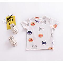 billige Babyoverdele-Baby Unisex Trykt mønster Kortærmet T-shirt / Sødt