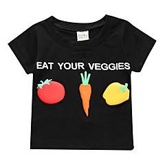 billige Babyoverdele-Baby Unisex Basale Frugt Kortærmet Bomuld T-shirt