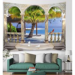 billige Veggdekor-Arkitektur Veggdekor polyester Vintage Veggkunst, Veggtepper Dekorasjon