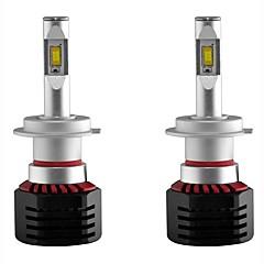 billige Frontlykter til bil-2pcs H7 Bil Elpærer 80W Integrert LED 8000lm 2 LED Hodelykt For Universell Alle Modeller Alle år