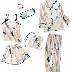 billige Moteundertøy-Dame Firkantet hals Dress Pyjamas - Geometrisk