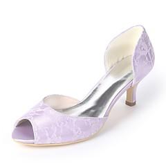 Női Cipő Szatén Tavaszi nyár Magasított talpú Esküvői cipők Cicasarok Köröm  Zöld   Kék   Kristály   Party és Estélyi 37c6892b11