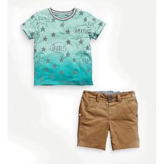 billige Tøjsæt til drenge-Børn Drenge Galakse Kortærmet Tøjsæt