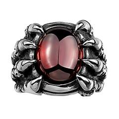 billige Motering-Herre Syntetisk Ruby Band Ring - rustfritt Mote 8 / 9 / 10 / 11 Sølv Til Fest Daglig