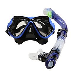 billiga Dykmasker, snorklar och simfötter-SABOLAY Snorklingspaket / Dykning Paket - Dykmaske, Snorkel - Anti-dimma, Vattentät, Torrdräkt – överdel Dykning, Snorkelfenor Silikon