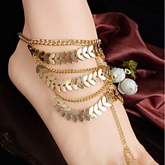 baratos Bijoux de Corps-Franjas Bijuteria para Pés - Formato de Folha Vintage, Fashion, Importante Dourado Para Feriado / Para Noite / Mulheres