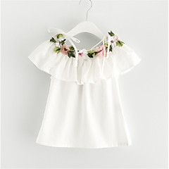 Χαμηλού Κόστους Βρεφικά μπλουζάκια-Μωρό Κοριτσίστικα Στάμπα Αμάνικο Μπλούζα