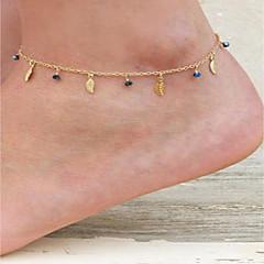 baratos Bijoux de Corps-Cristal Tornezeleira - Formato de Folha Guloseima, Vintage, Fashion Dourado / Prata Para Para Noite Bagels Mulheres