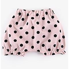 billige Babyunderdele-Baby Pige Aktiv Prikker Trykt mønster Bomuld Shorts