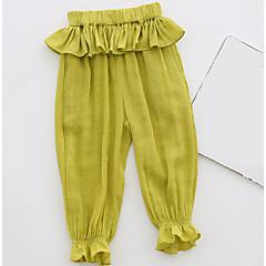 billige Babyunderdele-Baby Pige Gade Ensfarvet Bomuld Bukser