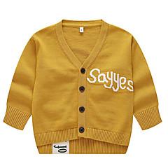 billige Sweaters og cardigans til drenge-Baby Drenge Basale Trykt mønster Trykt mønster Halvlange ærmer Bomuld Trøje og cardigan