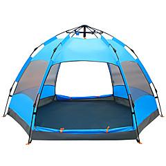 billige Telt og ly-TANXIANZHE® 8 personer Skjermtelt Dobbelt Lagdelt Automatisk Kuppel camping Tent Utendørs Vanntett, Regn-sikker, Fukt-sikker til Vandring / Camping / Reise 1500-2000 mm Net, PU 270*270*150 cm