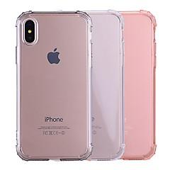 billige Telefoner og nettbrett-Etui Til Apple iPhone X / iPhone 8 Støtsikker / Gjennomsiktig Bakdeksel Ensfarget Myk TPU til iPhone X / iPhone 8 Plus / iPhone 8