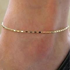 baratos Bijoux de Corps-Fio Único tornozeleira - Estiloso, Simples Dourado / Prata Para Diário / Mulheres