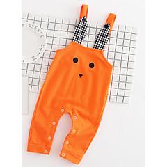 billige Babyunderdele-Baby Pige Aktiv Daglig Trykt mønster Trykt mønster Bomuld / Polyester Overall og jumpsuit Orange