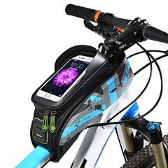 baratos Mochilas de Ciclismo-ROCKBROS Bolsa para Quadro de Bicicleta 5.8/6.0 polegada Prova-de-Água, Sensível ao Toque Ciclismo para Ciclismo