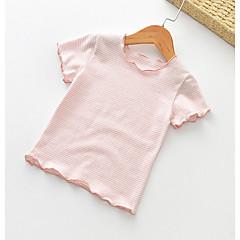 501fed21fd23 Barn Flickor Aktiv Enfärgad Kortärmad Polyester T-shirt Purpur