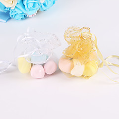 cheap Wedding Favors-C Shape Organza Favor Holder with Ribbons Gift Boxes - 100pcs