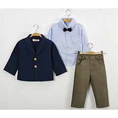billige Tøjsæt til drenge-Børn / Baby Drenge Ensfarvet Langærmet Tøjsæt