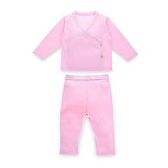 billige Babytøj-Baby Pige Afslappet Ensfarvet Langærmet Bomuld Tøjsæt