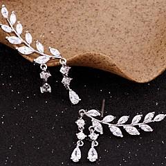 cheap -Women's Cubic Zirconia Tassel Stud Earrings / Ear Climbers - Leaf Simple, Tassel Gold / Silver For Party / Gift / Daily