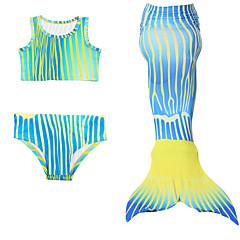 billige Badetøj til piger-Børn Pige Farveblok Uden ærmer Badetøj