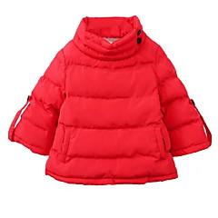 tanie Odzież dla dziewczynek-Dzieci Dla dziewczynek Podstawowy Jendolity kolor Długi rękaw Bawełna Odzież puchowa / pikowana