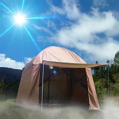 billige Telt og ly-8 personer Familie Camping Telt Dobbelt Lagdelt Stang Telt Ett Rom  utendørs Regn-sikker 2000-3000 mm  til Klatring Stållegering 330*330*240 cm