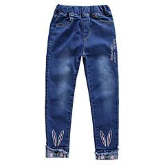 billige Jeans til piger-Børn Pige Basale Trykt mønster Jeans