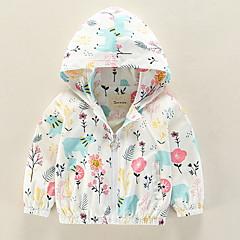 billige Overtøj til babyer-Baby Pige Blomstret Langærmet Jakke og frakke