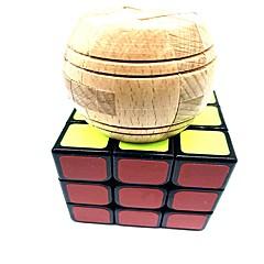 tanie Gry i puzzle-Kostka Rubika 6 szt WMS Drewniane rzemiosło Zabawka USB Scramble Cube / Foppy Cube 3*3*3 Gładka Prędkość Cube Magiczne kostki Puzzle Cube Szkoła Przeciwe stresowi i niepokojom Syntetyczny Dla