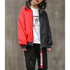billige Jakker og frakker til piger-Børn Pige Basale Geometrisk Langærmet Jakke og frakke