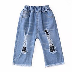 baratos Roupas de Meninas-Infantil Para Meninas Retalhos Shorts