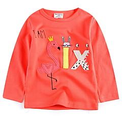 baratos Roupas de Meninas-Infantil Para Meninas Retalhos Manga Longa Camiseta