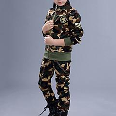 tanie Odzież dla chłopców-Dzieci Dla chłopców Podstawowy Jendolity kolor Długi rękaw Komplet odzieży