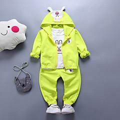 billige Sett med babyklær-Baby Pige Afslappet / Aktiv I-byen-tøj Trykt mønster Trykt mønster Langærmet Bomuld Tøjsæt