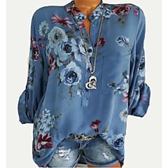 Mulheres Camisa Social - Para Noite Floral
