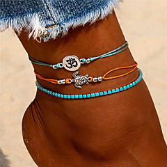 baratos Bijoux de Corps-Camadas tornozeleira - Resina Tartaruga Boêmio, Fashion, Colorido Azul Para Para Noite Bikini Mulheres