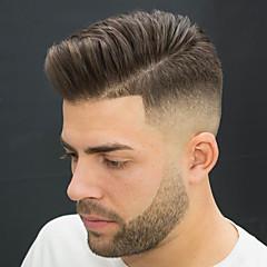 billiga Peruker och hårförlängning-Herr Äkta hår Tupéer Lockigt 100 % handbundet Mjuk