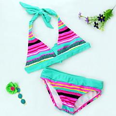 billige Badetøj til piger-Børn Pige Strand Stribet / Regnbue Badetøj